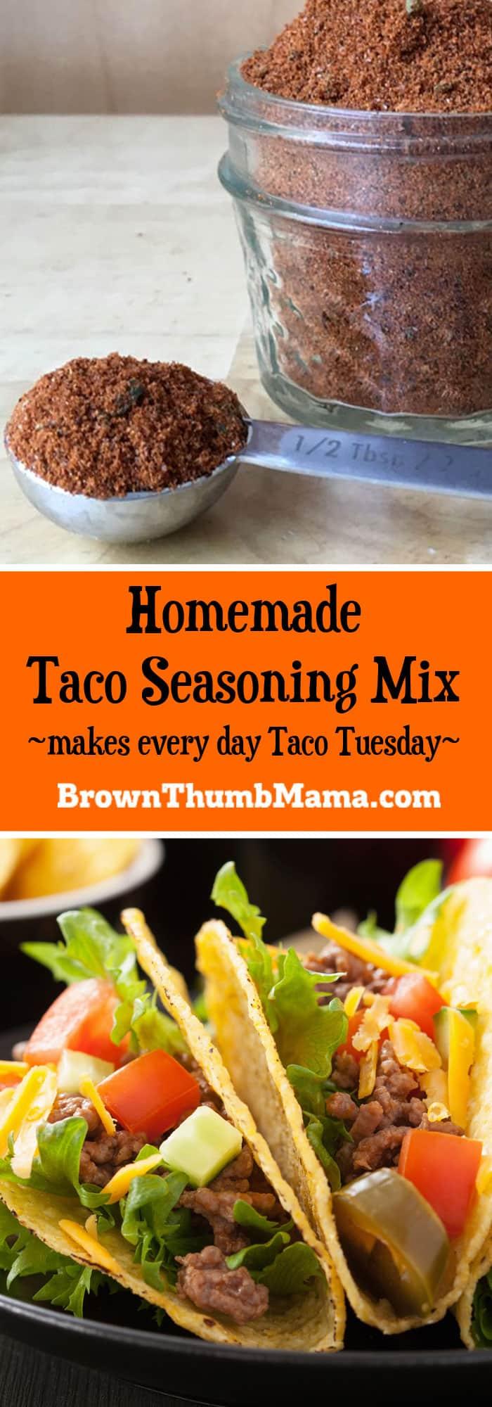 Homemade Taco Seasoning Mix | Brown Thumb Mama