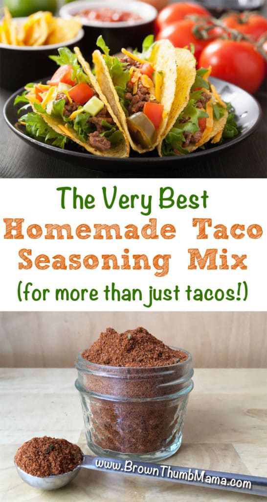 Ultimate Homemade Taco Seasoning Mix: BrownThumbMama.com