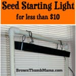 DIY Seed Starting Light