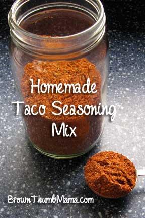 Homemade Taco Seasoning Mix: BrownThumbMama.com