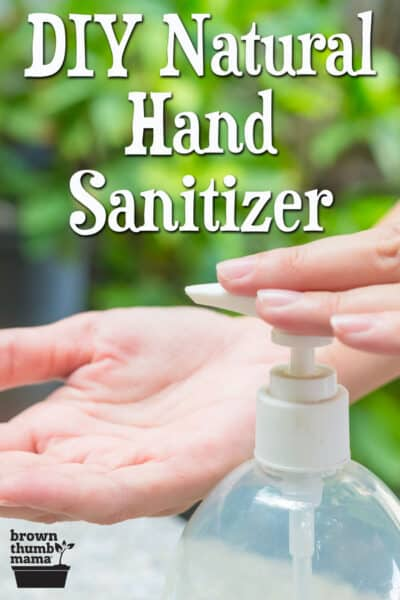 hand pumping sanitizer onto open hand