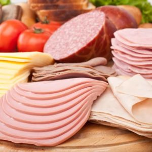 platter of lunch meat