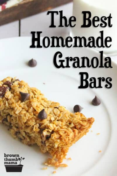 These are the best homemade granola bars out there. My kids LOVE them, and they only have 7 ingredients (Quaker Chewy has 28+). Ditch the mystery ingredients and go natural!