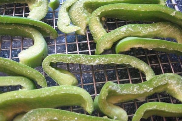 frozen pepper strips