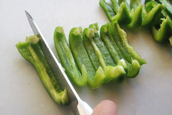 bell pepper cut into strips