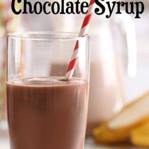 glass of chocolate milk with striped straw