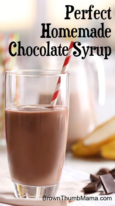 Homemade chocolate syrup: BrownThumbMama.com