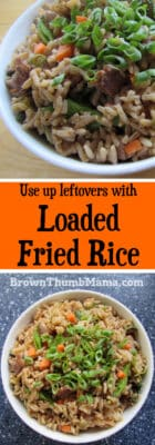 Make fried rice from scratch: BrownThumbMama.com