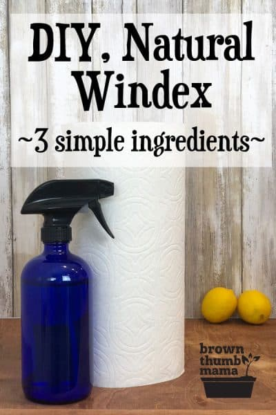 It's easy and inexpensive to make your own DIY, natural Windex without any of those nasty chemicals.