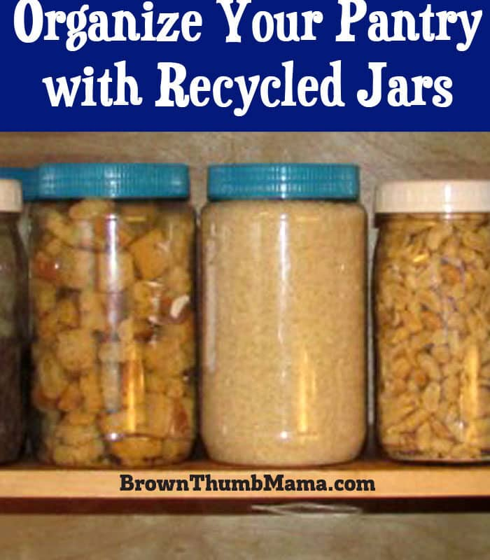 Organize Your Pantry With Recycled Jars