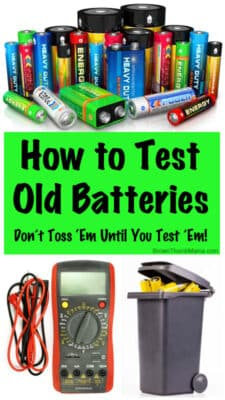 How to test old batteries: BrownThumbMama.com