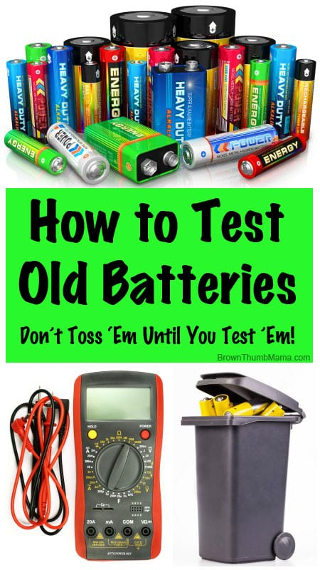 How to Test Old Batteries