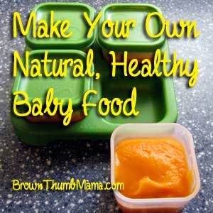 Make baby food: BrownThumbMama.com