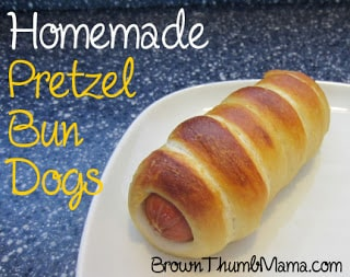 Homemade Pretzel Bun Dogs