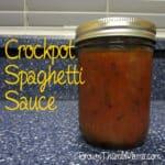 Crockpot Spaghetti Sauce