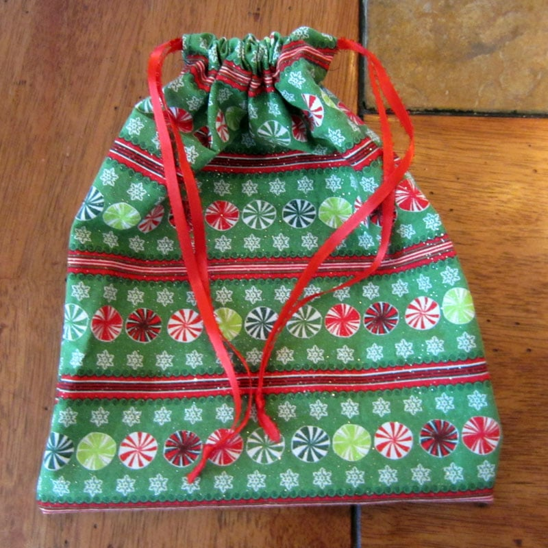 homemade gift bag finished