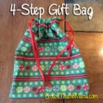 Sew A Gift Bag in 4 Steps