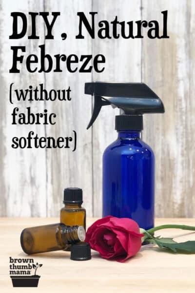 homemade natural febreze bottle
