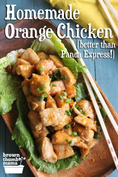 Does your family love Orange Chicken? This incredible, easy recipe is faster and healthier than takeout! #chicken #chickenrecipe #chinesefood #orangechicken #homemade