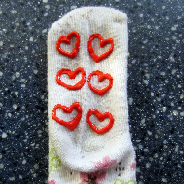 Grippy socks aren't just for toddlers...these no-skid socks are easy to make and give steady footing for kids, Grandma, or in yoga class.