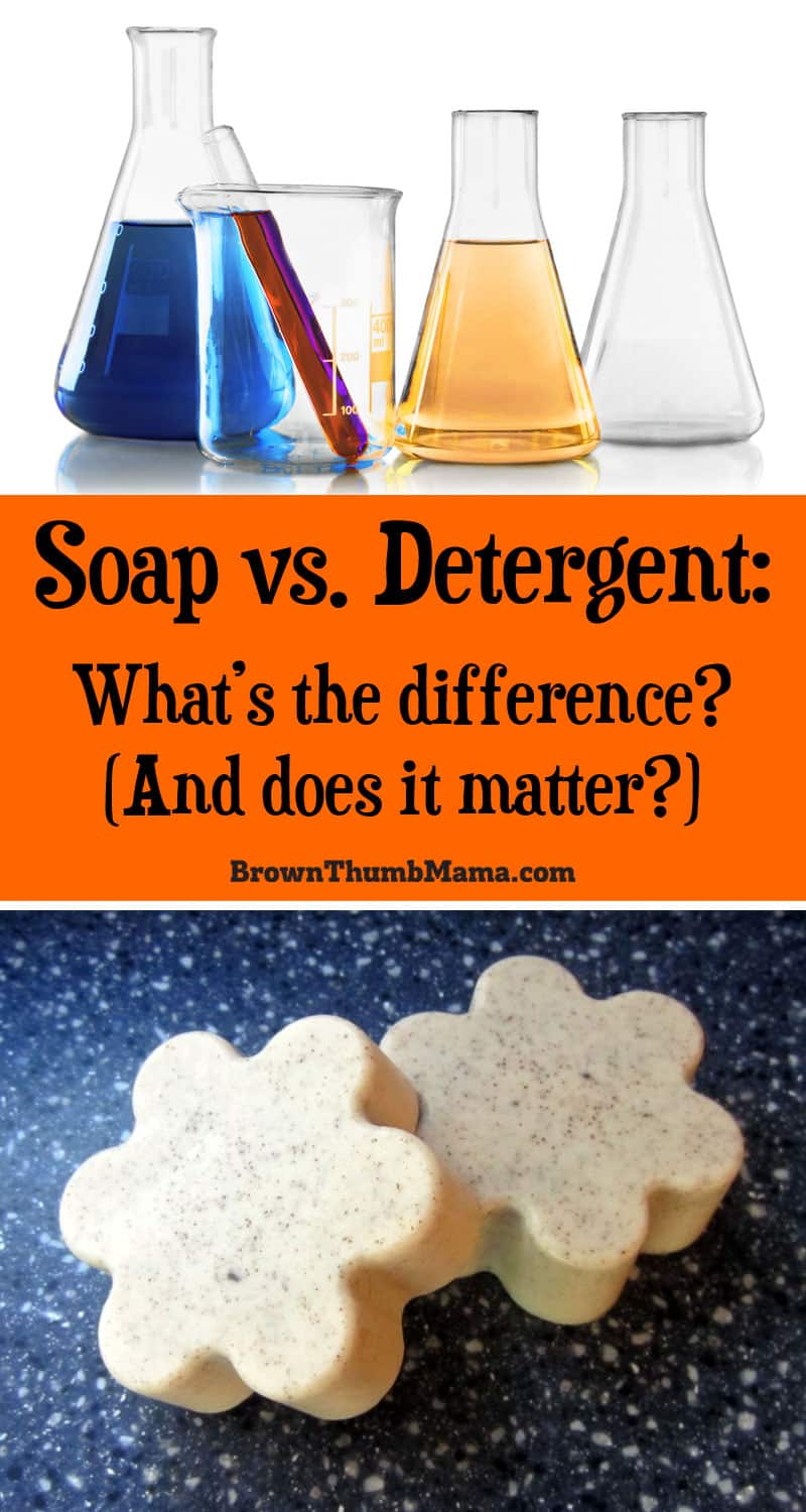 We use soaps and detergents on our bodies, in cleaning, and in our laundry. But what's the difference between soap and detergent? And does it really matter?