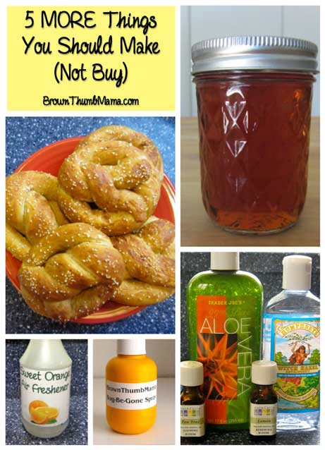 5 MORE Things You Should Make (Not Buy): BrownThumbMama.com