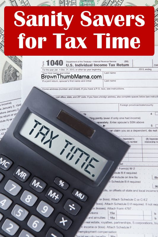 Sanity Savers for Tax Time