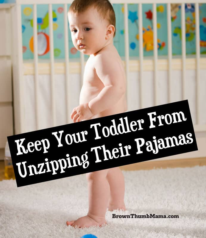Keep Your Toddler From Unzipping Their Pajamas