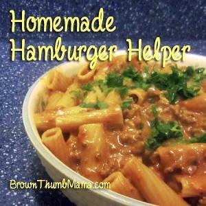 Homemade Hamburger Helper: BrownThumbMama.com