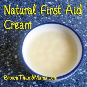Natural First Aid Cream: BrownThumbMama.com