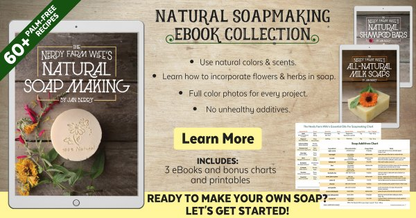 ad for natural soapmaking ebook collection
