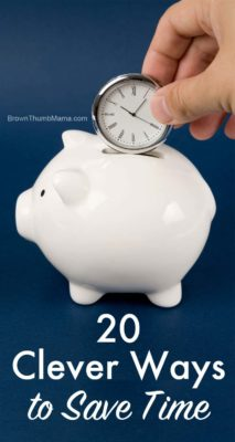 20 Clever Ways to Save Time: BrownThumbMama.com