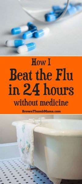 I beat the flu in 24 hours, using only natural remedies--and you can too! Stay away from synthetic medicines and their unpredictable side effects.
