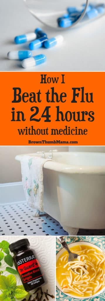 Beat the flu naturally in 24 hours