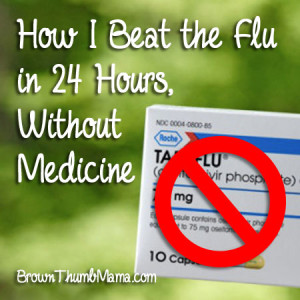 Beat the flu without medicine: BrownThumbMama.com
