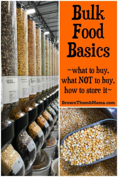 Important tips for buying and storing bulk food. Save money and time by buying in bulk.