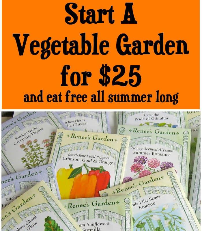 Start A Vegetable Garden for $25