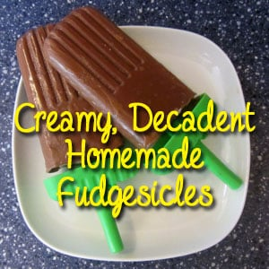 Creamy, Decadent Homemade Fudgesicles