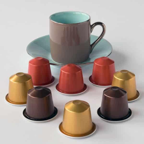 coffee mug and k-cups