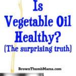 Is Vegetable Oil Healthy?