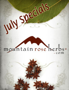 Mountain Rose Herbs July Specials & Their Uses