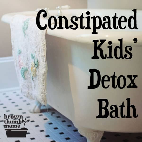 Relieve your kids' constipation naturally with a warm, soothing detox bath. #toddler #parenting #constipation #pottytraining #natural