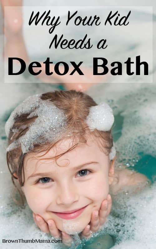 Warm and soothing, detox baths help draw toxins out through the skin and ease the burden on the liver. They work great for kids and grownups alike! #naturalhealth #doterra #essentialoils #detox #kids