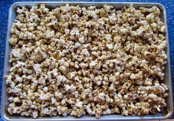 You can make caramel corn without using corn syrup! This easy recipe comes together in no time, with ingredients you already have in your kitchen.