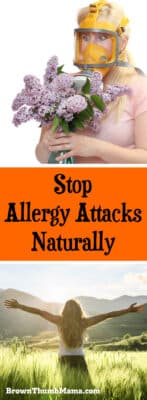 Stop an allergy attack naturally, without the harmful side effects of synthetic medication. Breathe easy with this safe, natural way to stop allergies.