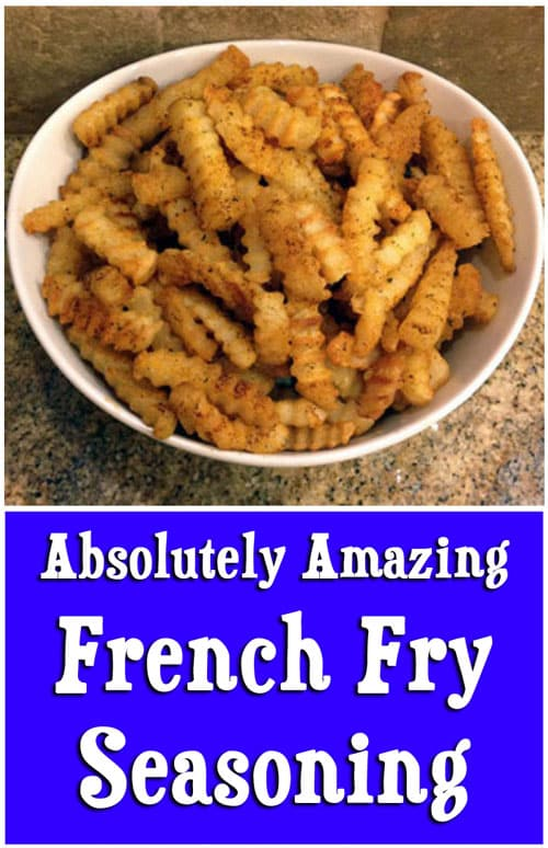 Get Awesome Flavor with this Easy French Fry Seasoning