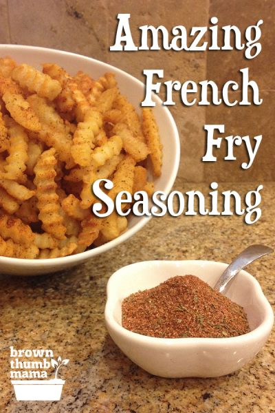 Nobody likes bland, soggy fries! Kick up the flavor and the crunch on your baked french fries with this amazing seasoning blend. #fries #frenchfries #snack #frozen