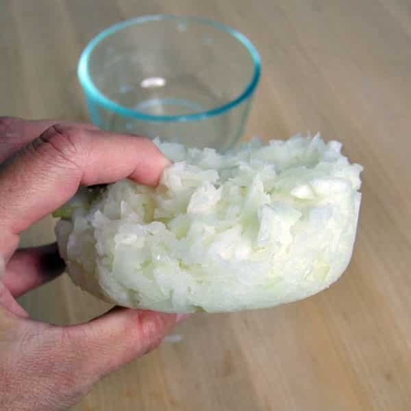 frozen chunk of onions