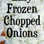 frozen onions on cookie sheet