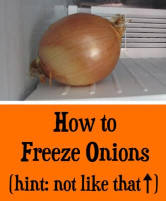 How to Freeze Onions: BrownThumbMama.com